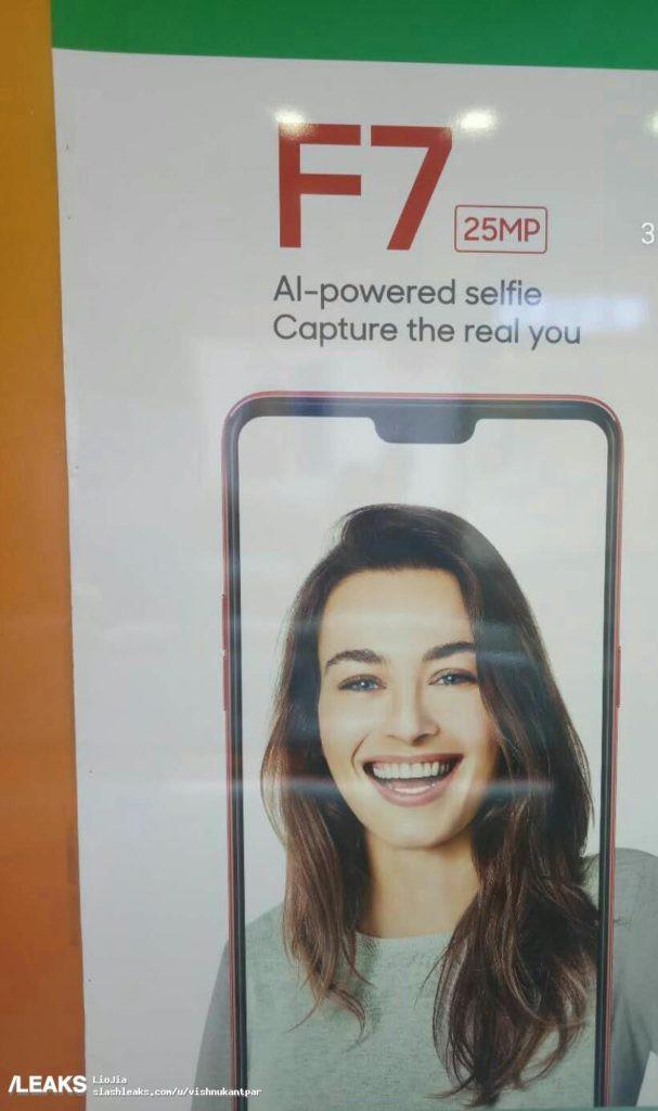 Rò rỉ quảng cáo Oppo F7, xác nhận camera selfie 25 MP tích hợp AI, màn hình có tai thỏ - Ảnh 1.