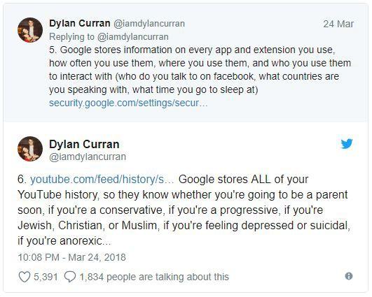 Lo sợ khi nghe tin Facebook thu thập dữ liệu? Kiểm tra tài khoản Google bạn còn khiếp hãi hơn - Ảnh 6.