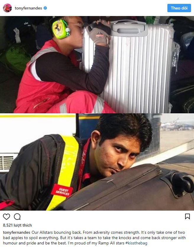 Nhân viên bốc xếp của AirAsia phải ôm, hôn từng chiếc vali sau khi bị tố quăng quật hành lý - Ảnh 4.