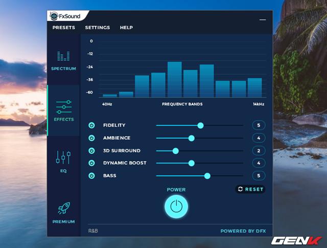 Sau khi đã chọn xong một Presets, bạn có thể chuyển qua tab Effects và tiến hành điều chỉnh các thanh trượt sao cho vừa ý mình nhất có thể.