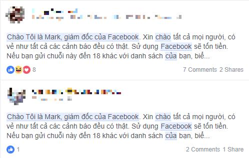 Những cảnh báo về Facebook mất phí sử dụng đều là giả mạo - Ảnh 2.