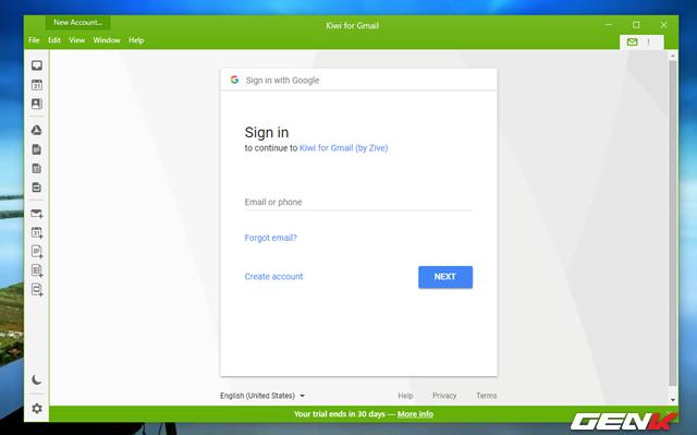 Đăng nhập tài khoản Google của bạn vào.