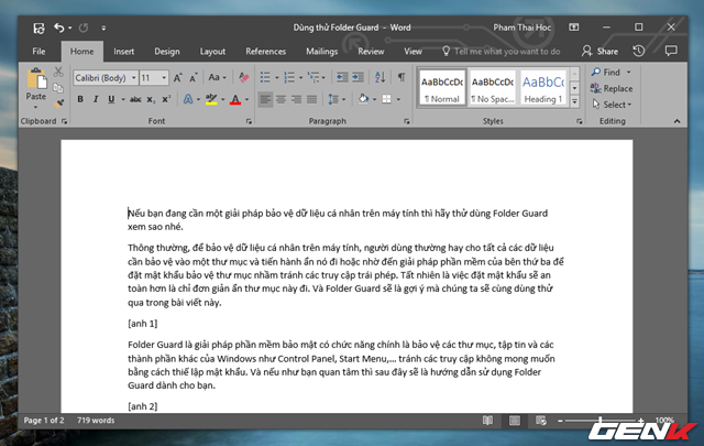 Mẹo ẩn đi những đoạn văn bản quan trọng trong Office Word 2016 - Ảnh 7.