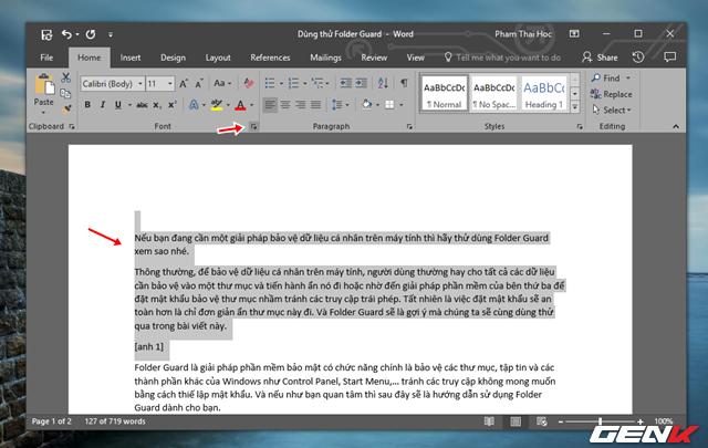 Mẹo ẩn đi những đoạn văn bản quan trọng trong Office Word 2016 - Ảnh 8.