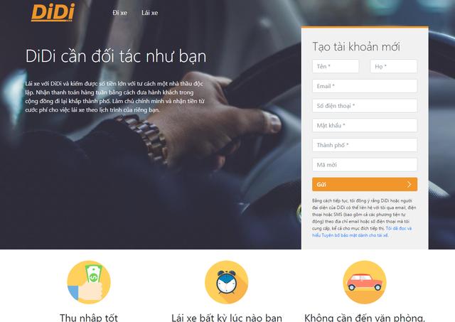 Ứng dụng Didi nhái vua gọi xe Trung Quốc tiếp tục xuất hiện tại Việt Nam, chiêu mộ tài xế cũ của Uber - Ảnh 1.