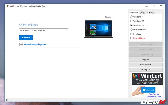"""Tiếp tục lựa chọn ngôn ngữ cho phiên bản Windows 10 mình cần và nhấn """"Confirm"""" để xác nhận."""