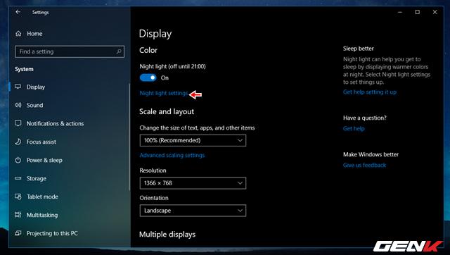 Cách thiết lập tự động kích hoạt tính năng lọc ánh sáng xanh khi đêm xuống trên Windows 10 April 2018 - Ảnh 5.