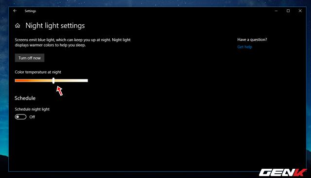 Cách thiết lập tự động kích hoạt tính năng lọc ánh sáng xanh khi đêm xuống trên Windows 10 April 2018 - Ảnh 7.