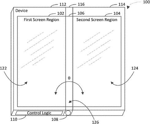 Microsoft hé lộ bằng sáng chế Surface Phone với 3 màn hình có thể gập lại được - Ảnh 1.