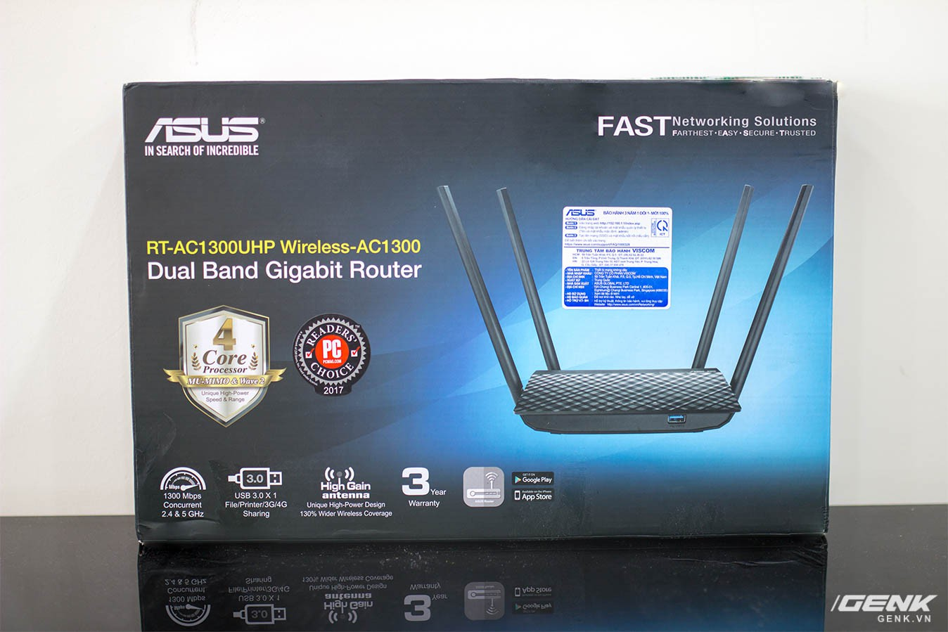 Router wifi ASUS RT-AC1300UHP Wireless AC1300 - Xuyên tường