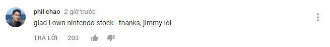 Thật may mắn là tôi đã sở hữu bộ phụ kiện của Nintendo rồi. Cảm ơn nhiều nhé Jimmy, lol.