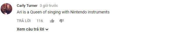 Ari là một nữ hoàng khi biểu diễn với những nhạc cụ của Nintendo.