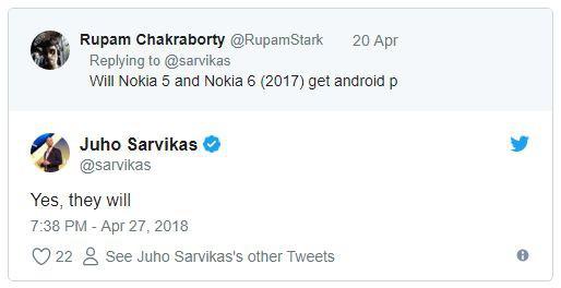 HMD Global xác nhận Nokia 5, Nokia 6 (2017) sẽ được cập nhật Android P, Nokia 3 (2018) lộ diện - Ảnh 1.