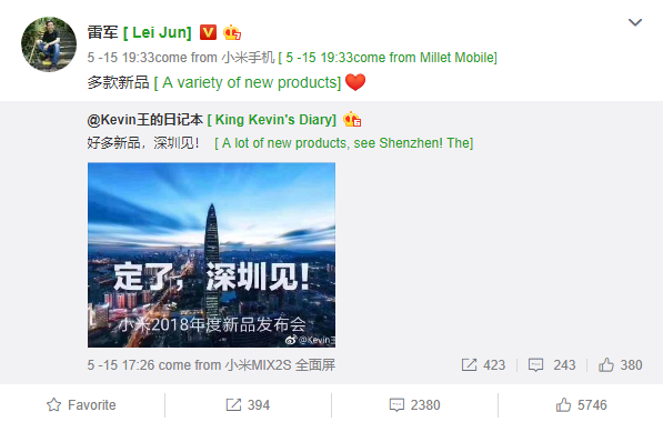 CEO Xiaomi khẳng định sẽ ra mắt nhiều thiết bị mới tại sự kiện diễn ra ở Thâm Quyến - Ảnh 1.