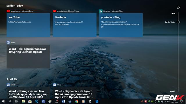 Trải nghiệm nhanh Windows 10 April 2018 Update: Fluent Design cực đẹp, Timeline tiện lợi - Ảnh 7.