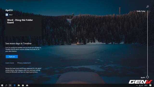 Trải nghiệm nhanh Windows 10 April 2018 Update: Fluent Design cực đẹp, Timeline tiện lợi - Ảnh 8.