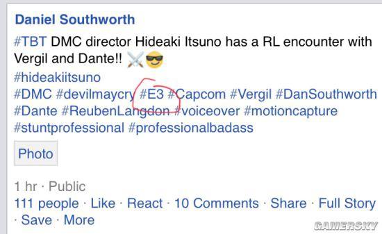 Chia sẻ mới đây của Daniel Southworth trên mạng xã hội khiến không ít fan hâm mộ Devil May Cry phải xôn xao