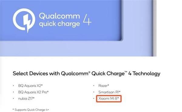 Lộ bằng chứng cho thấy Xiaomi Mi 8 sẽ hỗ trợ công nghệ sạc nhanh Quick Charge 4.0+ của Qualcomm - Ảnh 1.