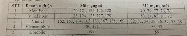 Thuê bao 11 số của 5 nhà mạng sẽ được chuyển sang thuê bao 10 số theo cách này.