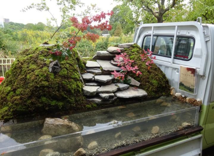 Ở Nhật Bản có hẳn một cuộc thi trưng bày cảnh quan nhà vườn ngay trên xe tải vô cùng độc đáo - Ảnh 9.