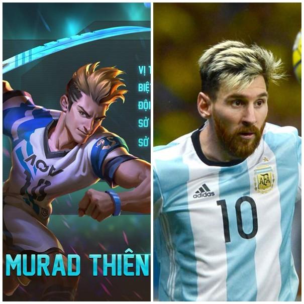 Murad khoác áo số 10, có trang phục gồm 2 màu xanh dương và trắng giống Messi trong màu áo tuyển quốc gia.