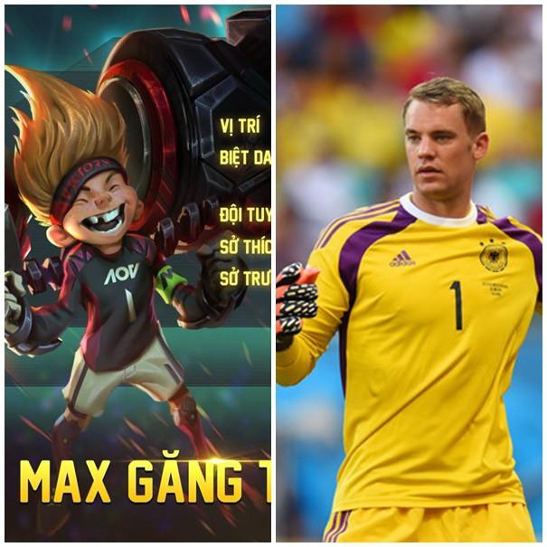 Max khoác áo số 1 và chơi ở vị thủ môn như M.Neuer.