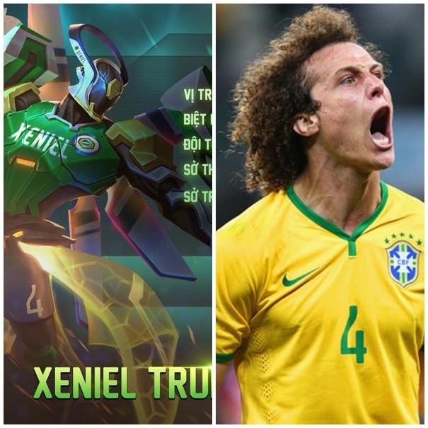 Xeniel chơi trung vệ, khoác áo số 4 được lấy cảm hứng từ D.Luiz chăng?