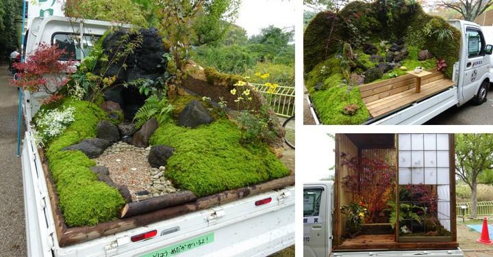 Ở Nhật Bản có hẳn một cuộc thi trưng bày cảnh quan nhà vườn ngay trên xe tải vô cùng độc đáo - Ảnh 1.