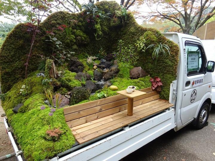 Ở Nhật Bản có hẳn một cuộc thi trưng bày cảnh quan nhà vườn ngay trên xe tải vô cùng độc đáo - Ảnh 3.