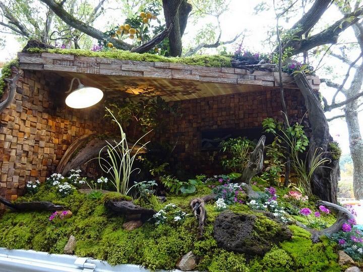 Ở Nhật Bản có hẳn một cuộc thi trưng bày cảnh quan nhà vườn ngay trên xe tải vô cùng độc đáo - Ảnh 2.
