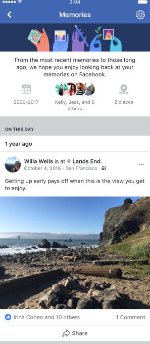 Facebook ra mắt tính năng Memories để cho người dùng lội dòng kí ức - Ảnh 5.