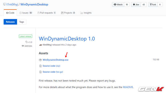 Cách mang tính năng Dynamic Desktop của macOS Mojave lên Windows 10 - Ảnh 2.