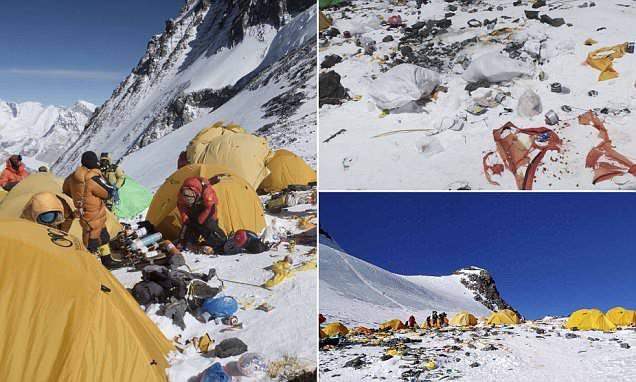 Những hình ảnh gây shock: Đỉnh Everest danh giá giờ đã trở thành bãi rác cao nhất thế giới - Ảnh 3.