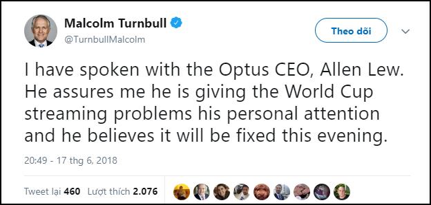 Australia: Internet quá lag để xem World Cup, Thủ tướng đích thân hỏi thăm khiến nhà mạng răm rắp sửa lỗi - Ảnh 1.