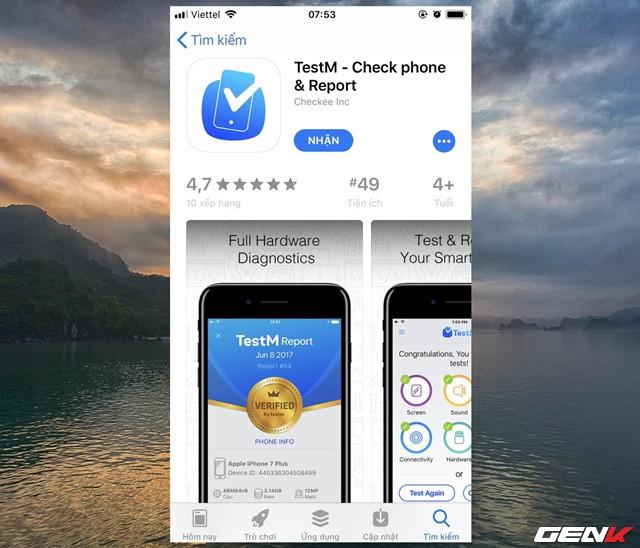 TestM chính là ứng dụng được nói đến trong bài viết này, và nó được cung cấp hoàn toàn miễn phí trên App Store.