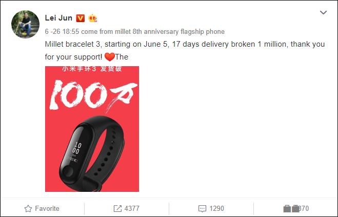 Xiaomi khoe bán được 1 triệu chiếc Mi Band 3 trong 17 ngày, hé lộ phiên bản Explorer Edition với dây đeo trong suốt - Ảnh 1.