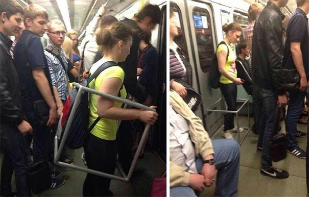 [Vui] Cưỡi bình cứu hỏa cho tới ăn bắp cải sống, đây là những hành khách kỳ lạ nhất tại ga tàu - Ảnh 6.