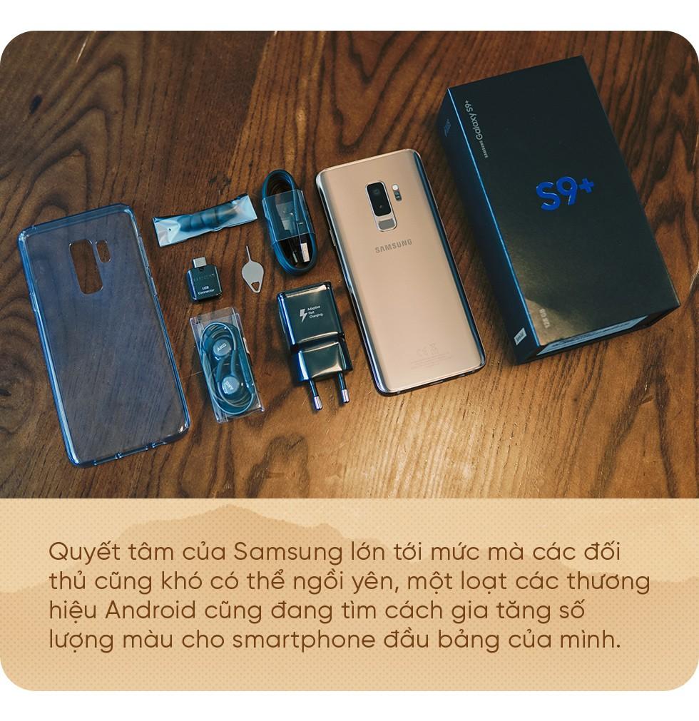 Bằng Galaxy S9+ Hoàng Kim, Samsung chứng tỏ vị trí dẫn đầu thiết kế trên smartphone - Ảnh 7.