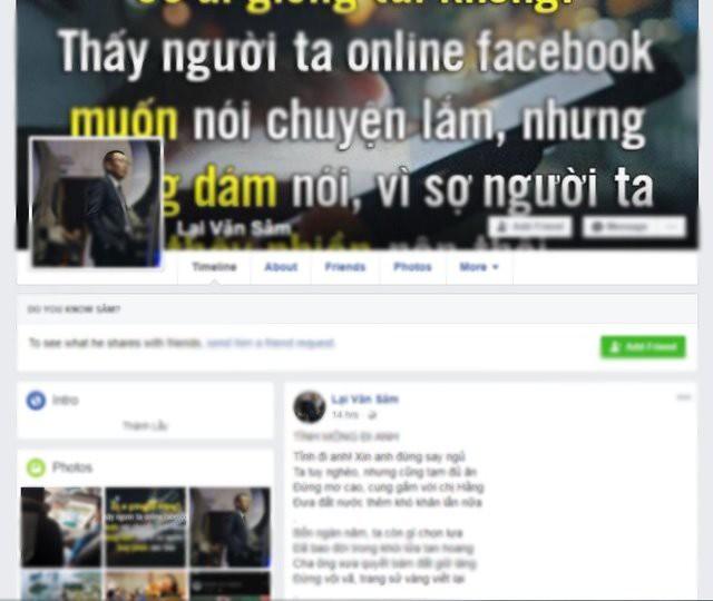 Nhà báo Lại Văn Sâm bức xúc vì bị giả mạo trên Facebook - Ảnh 1.