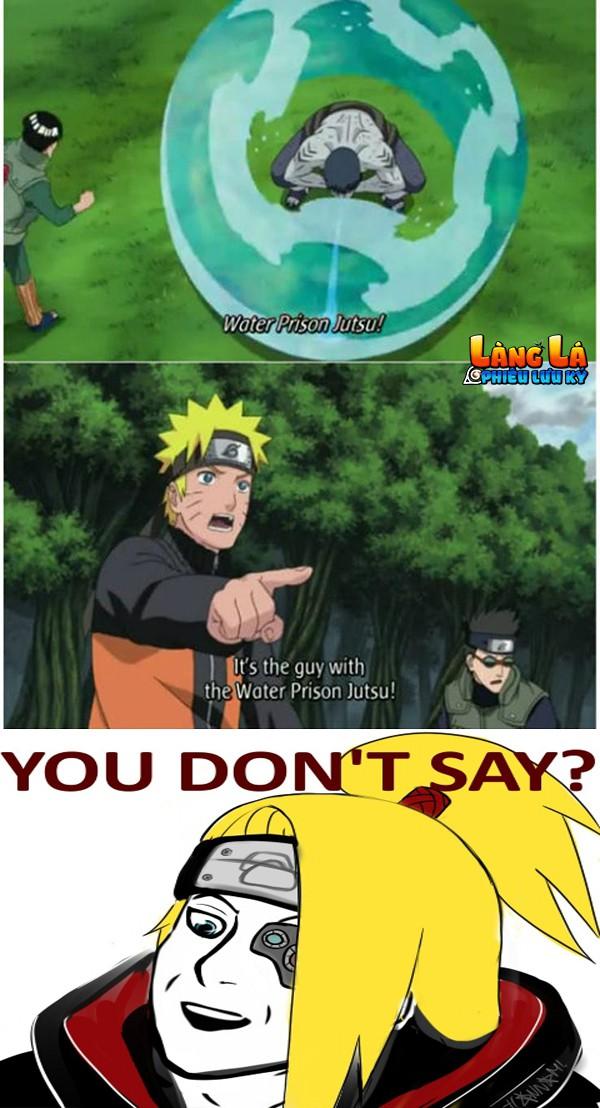Đôi khi Naruto thể hiện rất rõ nhẫn thuật mà cậu ta giỏi nhất - NGU ĐỘN