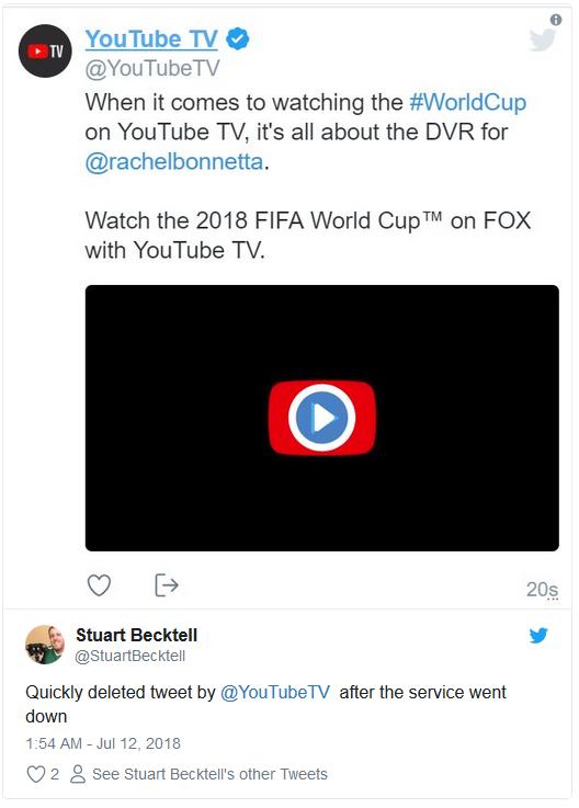 YouTube TV sập ngay lúc Croatia gỡ hòa trong trận bán kết, nhiều người kêu khóc trên Twitter - Ảnh 2.