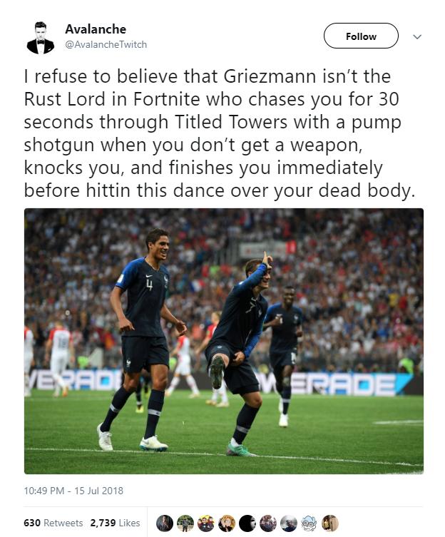Ghi bàn trong trận chung kết World Cup, Griezzman lại tiếp tục ăn mừng theo kiểu Fortnite - Ảnh 3.
