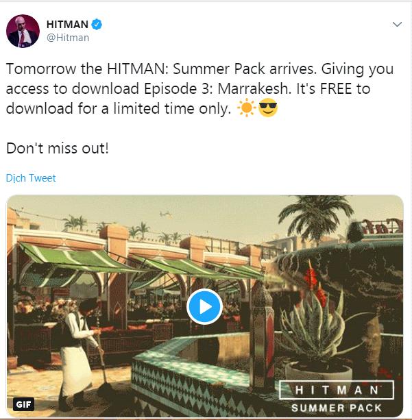 Hitman - Summer Pack, bom tấn AAA mùa hè 2018 sắp được phát tặng miễn phí - Ảnh 1.