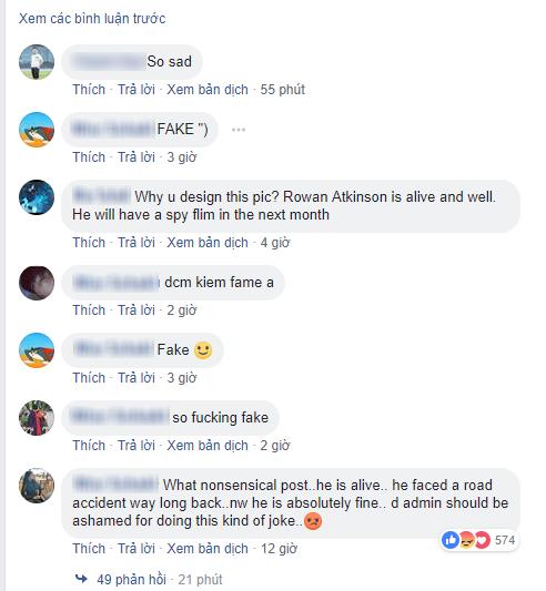 Mr. Bean lại bị khai tử trên mạng xã hội facebook khiến fan phẫn nộ - Ảnh 2.