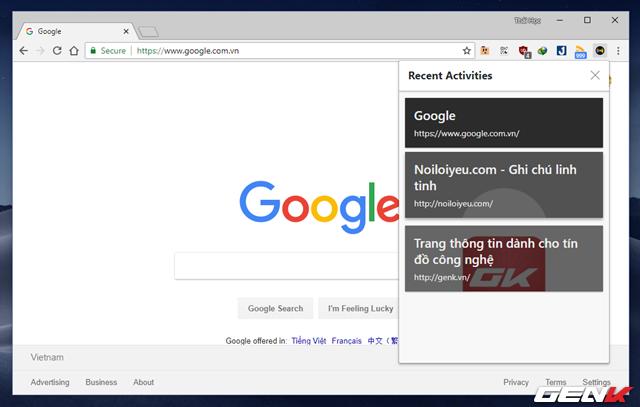 Mang tính năng Timeline của Windows 10 lên Google Chrome - Ảnh 8.