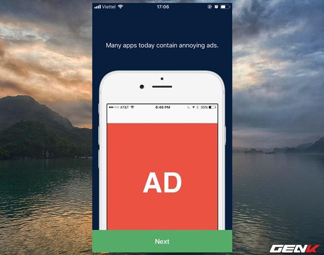 Có thể thấy Adblock Mobile được phát triển với chức năng hạn chế quảng cáo trên website và ứng dụng.