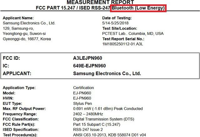 Tài liệu của FCC xác nhận S Pen trên Galaxy Note 9 sẽ có kết nối Bluetooth - Ảnh 1.