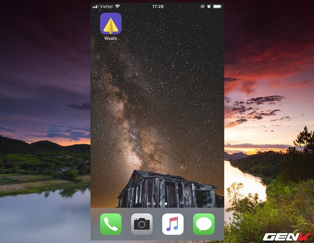 Sau khi tải xong, bạn hãy khởi động ứng dụng từ màn hình chính.