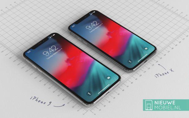 Cùng chiêm ngưỡng iPhone 9 nằm cạnh iPhone X 2018 trong những tấm hình render tuyệt đẹp - Ảnh 1.