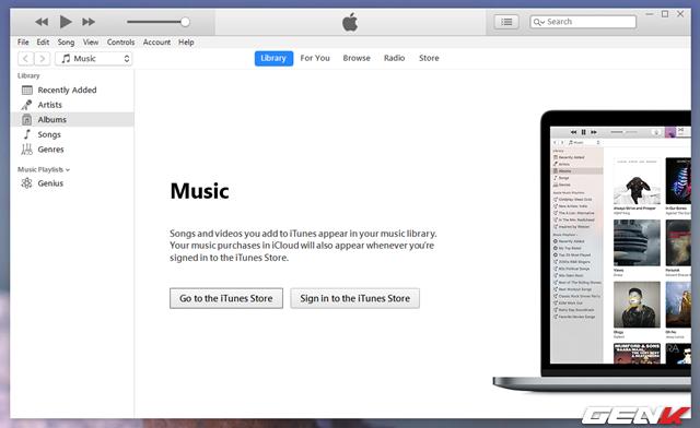 Bước 1: Khởi động iTunes trên máy tính và đảm bảo rằng bạn đang sử dụng phiên bản mới nhất.